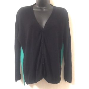 H&M Cardigan Sweater Colorblock V-Neck Button Down